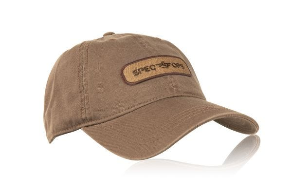 Brown Spec Ops Hat with Patch