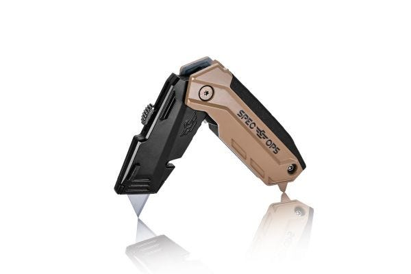 Retractable-Blade Folding Utility Knife